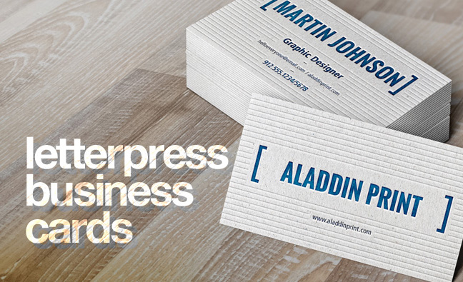 Aladdin Print Letterpress Business Card