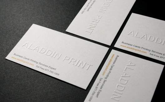 Aladdin Print Business Card