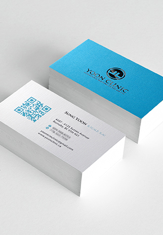 Yoon's Clinic Business Card by Aladdin Print