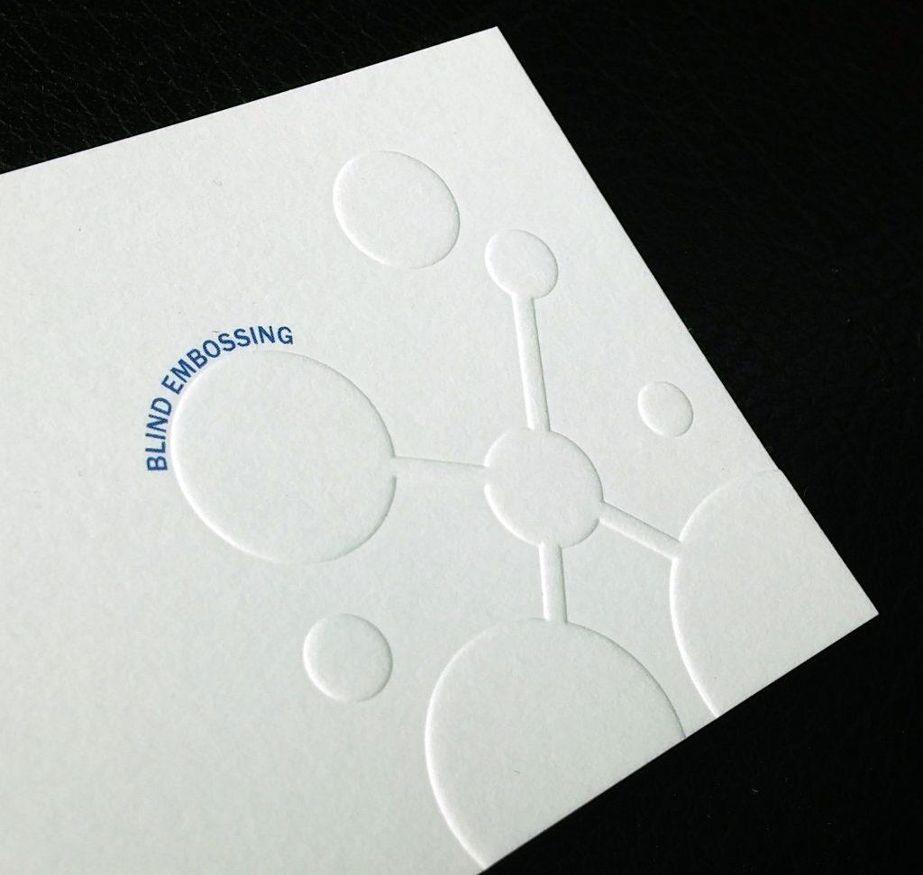 Aladdin Print Blind Embossed Business Card
