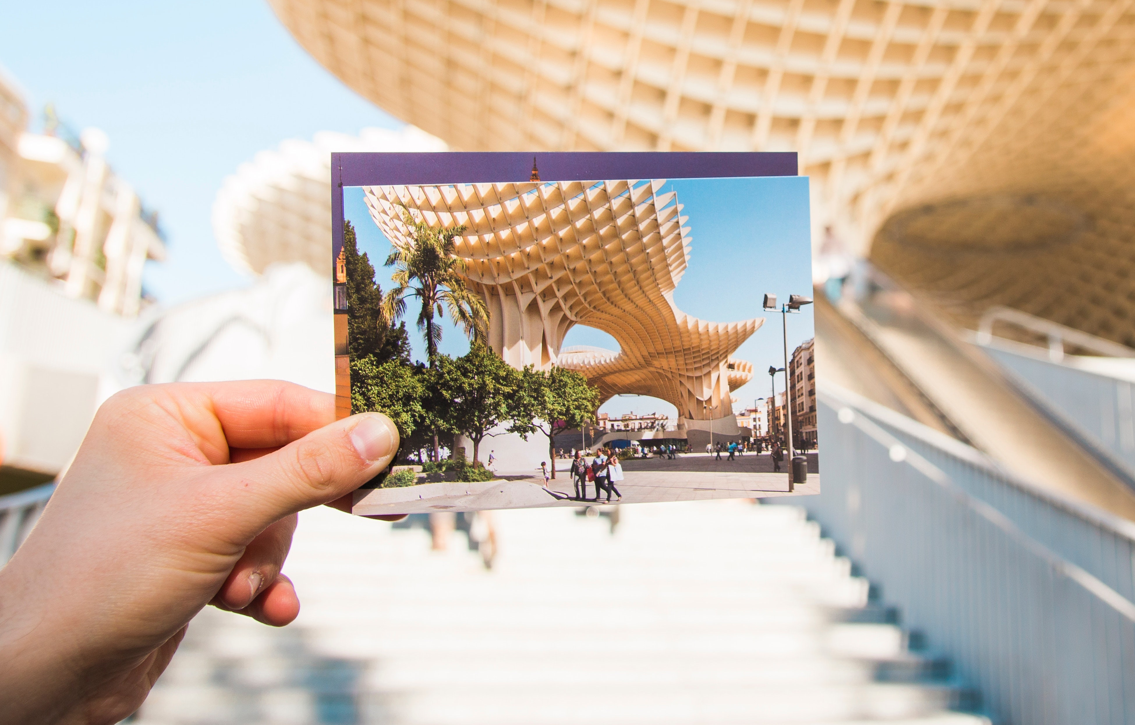Postcard With a Photo That Represents a Meaningful Place