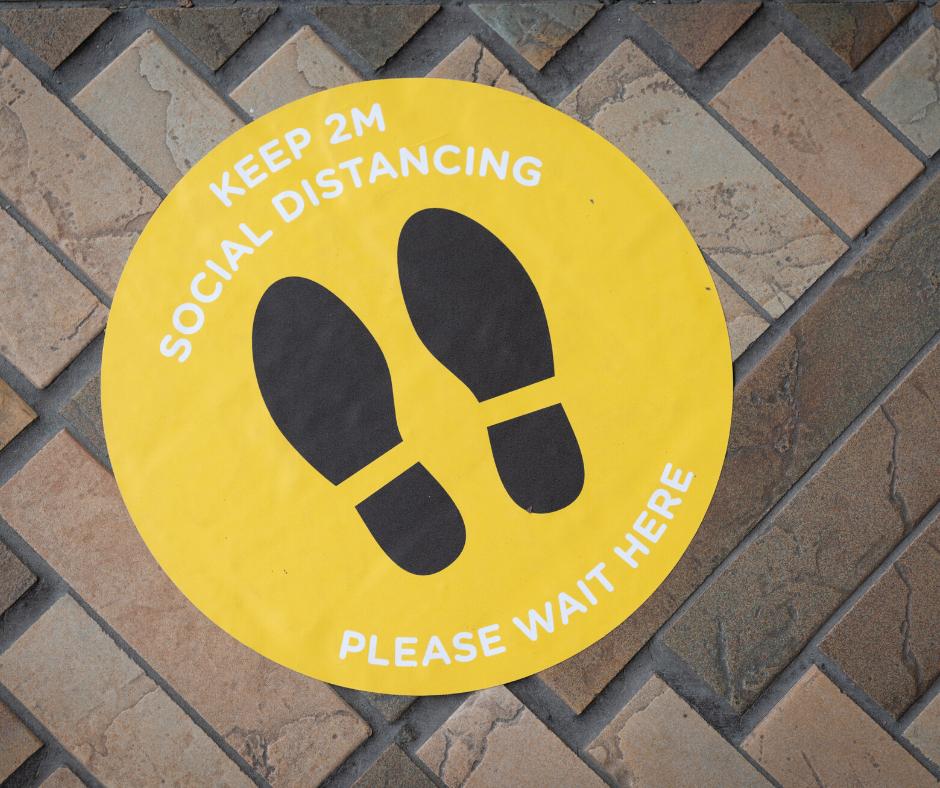 Social Distancing Round Circle Sticker Aladdin Print