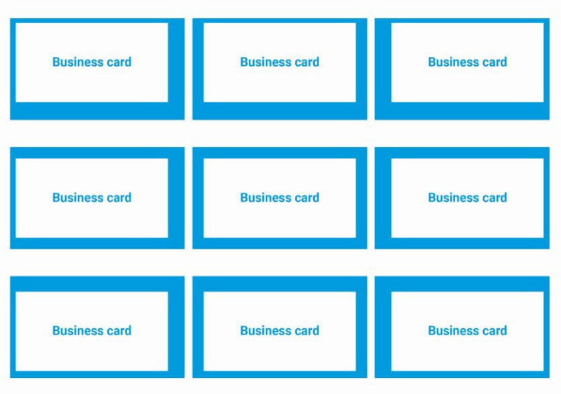 Business card design, business card border, common business card mistake, aladdin print
