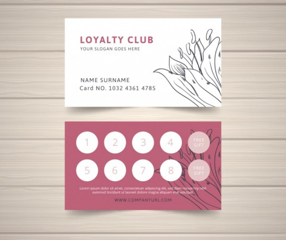loyalty card, business card, aladdin print